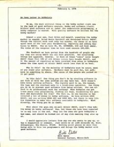 Gates Letter