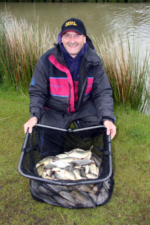 Ian Symonds with the day's top pole weight
