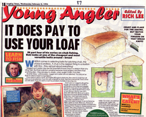 My page editor was a very young 'Rich' Lee - his first break - now he's the editor